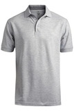 Men's Short Sleeve Soft Touch Blended Pique Polo Grey Heather Thumbnail