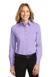 Women's Long Sleeve Easy Care Shirt Bright Lavender Thumbnail