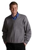 Men's 100 Acrylic V-neck Sweater Grey Heather Thumbnail