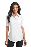 Women's Short Sleeve Superpro Oxford Shirt White Thumbnail