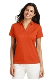 Women's Performance Fine Jacquard Polo Shirt Autumn Orange Thumbnail