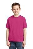 Youth 50/50 Cotton / Poly T-shirt Cyber Pink Thumbnail