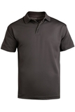 Men's Tipped Collar Dry-mesh Hi-performance Polo Steel Grey Thumbnail