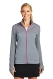 Women's Nike Golf Therma-FIT Hypervis Full-Zip Jacket Cool Grey with Vivid Pink Thumbnail