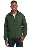 Hooded Raglan Jacket Forest Green Thumbnail