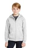Youth Full-zip Hooded Sweatshirt Ash Thumbnail