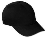 Washed Twill Sandwich Cap Black with White Thumbnail