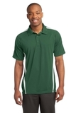 Micro-mesh Colorblock Polo Forest Green with White Thumbnail