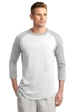 Colorblock Raglan Jersey White with Heather Grey Thumbnail