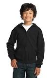 Youth Heavy Blend Full-zip Hooded Sweatshirt Black Thumbnail