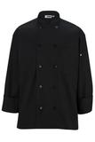 10 Pearl Button Chef Coat Black Thumbnail