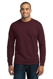 Long Sleeve 50/50 Cotton / Poly T-shirt Athletic Maroon Thumbnail