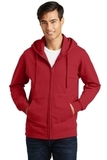 Port & Company Fan Favorite Fleece Full-Zip Hooded Sweatshirt Team Cardinal Thumbnail