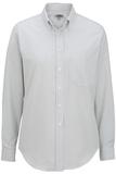 Women's Dress Button Down Oxford LS Grey Stripe Thumbnail