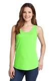 Women's 5.4 oz. 100 Cotton Tank Top Neon Green Thumbnail