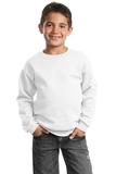 Youth Crewneck Sweatshirt White Thumbnail