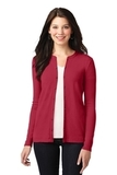 Women's Concept Stretch Button-Front Cardigan Rich Red Thumbnail