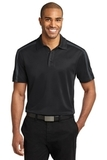 Silk Touch Performance Colorblock Stripe Polo Black with Steel Grey Thumbnail