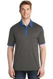 Heather Contender Contrast Polo Graphite Heather with True Royal Thumbnail