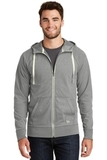 New Era Sueded Cotton Full-Zip Hoodie Shadow Grey Heather Thumbnail