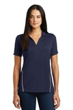 Women's Contrast Tough Polo True Navy with Heather Grey Thumbnail