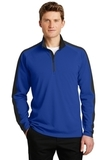 Sport-Wick Textured Colorblock 1/4-Zip Pullover True Royal with Black Thumbnail