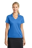 Women's Nike Golf Dri-FIT Vertical Mesh Polo Brisk Blue Thumbnail