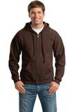 Full-zip Hooded Sweatshirt Dark Chocolate Thumbnail