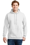 Ultimate Cotton Pullover Hooded Sweatshirt White Thumbnail