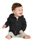 Infant Full-zip Hooded Sweatshirt Jet Black Thumbnail