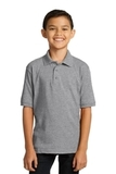 Port Company Youth 5.5-ounce Jersey Knit Polo Athletic Heather Thumbnail