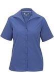 Women's Easy Care Poplin Shirt SS French Blue Thumbnail