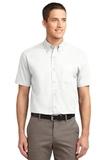 Short Sleeve Easy Care Shirt White with Light Stone Thumbnail