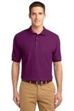 Extended Size Silk Touch Polo Shirt Deep Berry Thumbnail
