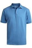 Men's Short Sleeve Soft Touch Blended Pique Polo Marina Blue Thumbnail