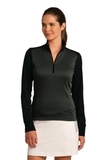 Women's Nike Golf Dri-Fit 1/2-Zip Cover-Up Anthracite Heather with Black Thumbnail