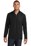 Pinpoint Mesh 1/2 Zip Pullover Black Thumbnail