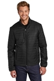 Packable Puffy Jacket Deep Black Thumbnail