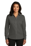 Women's Red House NonIron Twill Shirt Grey Steel Thumbnail