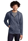 Tri-Blend Wicking Fleece Full-Zip Hooded Jacket True Navy Heather Thumbnail