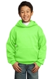 Youth Pullover Hooded Sweatshirt Neon Green Thumbnail