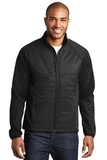 Hybrid Soft Shell Jacket Deep Black Thumbnail