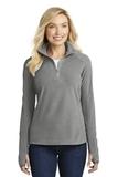Women's Microfleece 1/2-zip Pullover Pearl Grey Thumbnail
