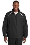 1/2-zip Wind Shirt Black with White Thumbnail
