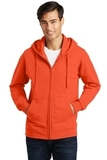 Port & Company Fan Favorite Fleece Full-Zip Hooded Sweatshirt Orange Thumbnail