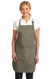 Easy Care Full-length Apron With Stain Release Khaki Thumbnail