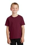 Youth 5.5-oz 100 Cotton T-shirt Cardinal Thumbnail
