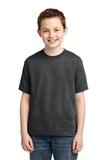 Youth 50/50 Cotton / Poly T-shirt Black Heather Thumbnail