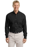 Tall Long Sleeve Twill Shirt Black Thumbnail