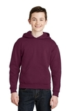 Youth Pullover Hooded Sweatshirt Maroon Thumbnail